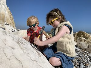 Fossil hunting at Seaford Head